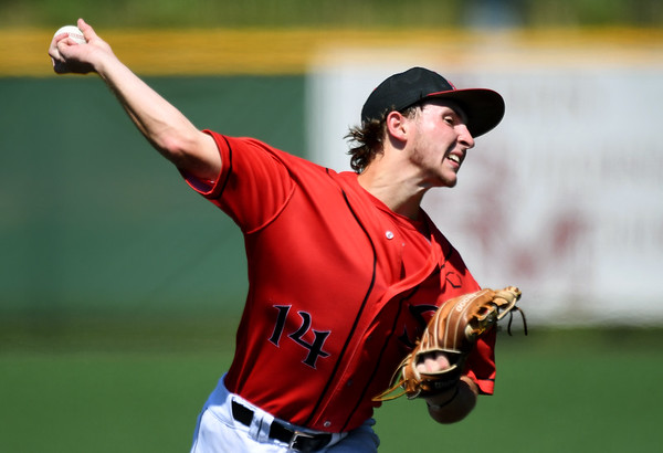 Texas Stix-Mistler starter Ethan Purrington delivers a pitch to the plate during a Premier Baseball Under 17 National Championship game against the Southwest Missouri All-Stars on Friday at Warren Turner Field.<br /> Globe | Laurie Sisk