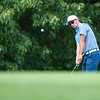 Jordan Burks putts the ball from outside the green during the final round of the Joplin Area Golf Championships at Briarbrook Golf Course in Carl Junction.<br /> Globe Israel Perez