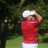 Mary Packard tees off during Monday's Horton Smith Cup at Schifferdecker Golf Course on Monday.<br /> Globe | Roger Nomer