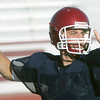 Globe/Roger Nomer<br /> Gabe Sachetta makes a pass during Joplin High's summer football camp on Wednesday.