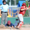 Joplin's Chris Leonardi slides safely into home as webb City catcher Tyler Davison fields the throw during their game on Thursday night at Wendell Redden Field.<br /> Globe | Laurie Sisk