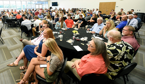 Friends, family and coaches join standout athletes at the 3rd annual Joplin Globe Athletes of the Year banquet on Tuesday night at Missouri Southern. <br /> Globe | Laurie SIsk
