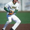 Missouri Southern shortstop Richie Gorski plants his feet to throw a runner out at first base during the Lions' game against Nebraska-Kearney on Friday at Warren Turner Field.<br /> Globe | Laurie Sisk