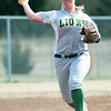 Missouri Southern shortstop Myranda Stewart throws a runner out at first base during the Lions' game against Upper Iowa on Saturday at the Joplin Athletic Complex.<br /> Globe | Laurie Sisk