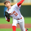 Pittsburg State's Brad Kinsey throws from the mound during the Gorillas game against Missouri Southern on Wednesday at Al Ortolani Field.<br /> Globe | Laurie SIsk