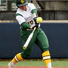 Missouri Southern's Emily Harris connects for a double during the seond game of a doubleheader against Fort Hays State on Thursday at Joplin High School.<br /> Globe | Laurie Sisk