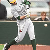Missouri Southern's Joe Kinder connects for a fourth-inning single during the Lions game against Pittsburg State on Wednesday at Al Ortolani Field.<br /> Globe | Laurie SIsk
