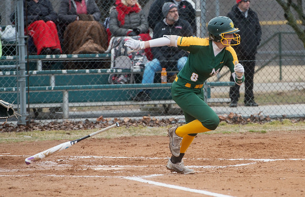 Missouri Southern's Elizabeth Windsor runs to first base during Friday's game against William Jewell at Missouri Southern.<br /> Globe | Roger Nomer