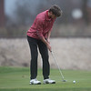 Carl Junction's Spencer King putts while playing on Monday at Twin Hills Golf Course.<br /> Globe | Roger Nomer