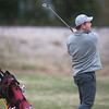 Joplin's Chris Pryor hits a shot toward the green on Monday at Twin Hills Golf Course.<br /> Globe | Roger Nomer