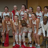 The Carl Junction girls basketball team poses with their District 12 Championship plaque on Friday at Webb City.<br /> Globe | Roger Nomer