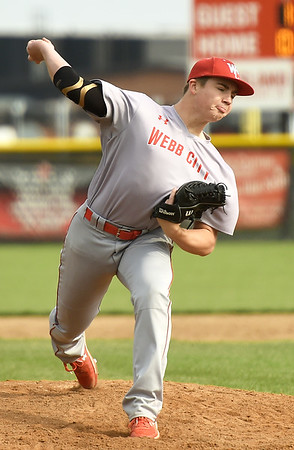 Webb City's Cole Gayman delivers a pitch to the plate during the Cardinals game against Carl Junction From the left: Carl Junction on Tuesday at Carl Junction.<br /> Globe | Laurie Sisk
