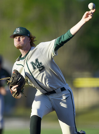 Missouri Southern's Zac Shoemaker delivers a pitch to the plate during the Lions game against Northeastern State on Friday night at Joe Becker Stadium.<br /> Globe | Laurie Sisk