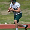 Missouri Southern quarterback Sean Kelly runs through drills on Tuesday at Fred G. Hughes Stadium.<br /> Globe | Laurie Sisk