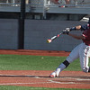 Joplin's Luke Benfield gets a hit against Nevada during Thursday's game at Joplin High School.<br /> Globe | Roger Nomer