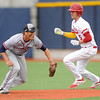 Webb City's Dack Sanborn gets past Joplin's Zack Gaudette enroute to second base during their Class 5, District 12 semifinal game on Tuesday at JHS.<br /> Globe | Laurie Sisk