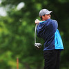 Globe/Roger Nomer<br /> Carthage's Austin Musche tees off on Monday at Twin Hills.