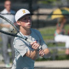 Globe/Roger Nomer<br /> Joplin's Alan Wilkinson hits a shot during doubles competition at Joplin High on Monday.