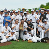 Globe/Roger Nomer<br /> The Crowder baseball team poses for photos after defeating Seminole State to win the South Central District Championship on Monday at Warren Turner Field.