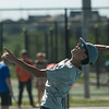 Globe/Roger Nomer<br /> Joplin's Michael Gray lines up a shot during doubles competition at Joplin High on Monday.