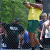Missouri Southern's Junior Joseph competes in the weight throw during the MSSU Last Chance meet on Friday at Missouri Southern.<br /> Globe | Laurie SIsk