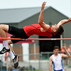 Carl Junction high jumper xx xx competes in the Class 4 District 6 meet on Saturday at Carl Junction.<br /> Globe | Laurie Sisk