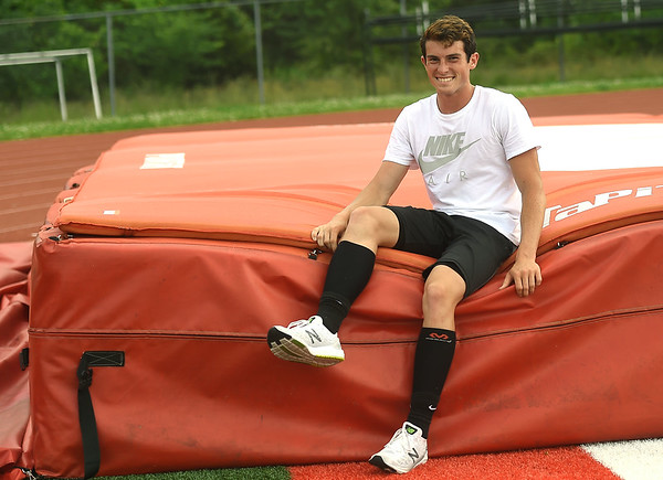 Carl Junction pole vaulter Harrison Huhn is poised to defend his top ranking in the state this weekend in Jefferson City at the state track meet. Huhn has cleared 15 feet 7 inches this year, making the top jump in the state.<br /> Globe | Laurie SIsk