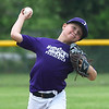 Nine-year-old Nolan Bronson delivers a pitch to the plate for his Hometown Pediatrics team as they face off against SMB in the teams' season opener on Tuesday at Landreth Park. After numerous rainouts, hundreds of Joplin kids took to the fields for 2019 Little League action.<br /> Globe | Laurie Sisk