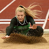 Pierce City's Bella Kamplain competes in the long jump during Class 2 District 5 Track and Field on Saturday at Sarcoxie High School.<br /> Globe | Laurie Sisk