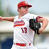Webb City's Cole Gayman (13) delivers a pitch to the plate during the Cardinals game against Neosho on Friday at Webb City.<br /> Globe | Laurie SIsk