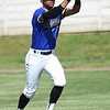 Crowder College's Roderick Criss secures a fly ball to centerfield during the Roughriders game against Connors State on Friday at Joe Becker Stadium.<br /> Globe | Laurie Sisk