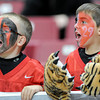 Young tiger fans shout their support of the Lamar football team during the championship game in the Edward Jones Dome at St. Louis. <br /> Globe/T. Rob Brown