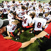 Globe/T. Rob Brown<br /> Lamar (Mo.) High School pray following the game against Blair Oakes in the state championship game at the Edward Jones Dome in St. Louis, November 2012.