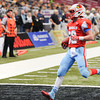 Globe | T. Rob Brown<br /> Webb City's Trey Parra brings the ball over the goal for a 2-point conversion in the second quarter, bringing the score to 14-7 Webb City, Friday afternoon, Nov. 29, 2013, at the Edward Jones Dome in St. Louis.