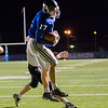 Globe|Israel Perez<br /> Colgan's Alex Brown (17) makes the catch in the end zone for a touch down against Washington Co. during their Class 2-1A quarter final game on Friday night, November 11th, 2016 at Hutchinson Field in Pittsburg KS.