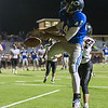 Globe|Israel Perez<br /> Colgan's Josh Hayes (44) misses the catch in the end zone against Washington Co. during their Class 2-1A quarter final game on Friday night, November 11th, 2016 at Hutchinson Field in Pittsburg KS.