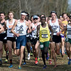 Missouri Southern's Gidieon Kimutai (211) runs near the front of the pack during the Central Region Cross Country Championships on Saturday at MSSU.<br /> Globe | Laurie Sisk