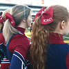 Joplin cheerleaders honor their deceased classmate, Kaden Roberts Day during their Class 6 Championship game on Saturday in Columbia.<br /> Globe | Laurie Sisk