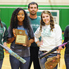 Globe/T. Rob Brown<br /> College Heights Christian School's varsity softball team includes seniors, from left, Hannah Laws, Jasmine Johnson, Kirsty Green and Alison Sauer with coach Phillip Jordan, back row. The team placed second in the Class 2 district this year.