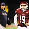 Globe/T. Rob Brown<br /> Joplin's Brock Renken returns to the sidelines after kicking against Kickapoo Friday night, Oct. 19, 2012, at Junge Stadium.