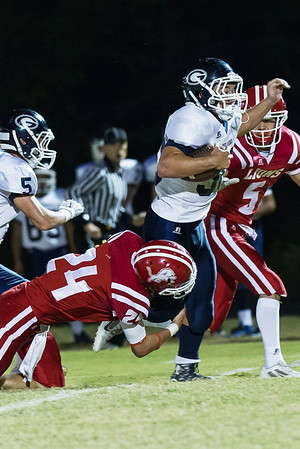 Globe/Israel Perez<br /> Galena's Dayton Mooney (30) nearly gets away from Baxter's Jarret Dotson (24) during Friday's game in Baxter Springs.