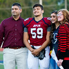 Joplin linebacker Solomon Garcia stands with his family on Senior Night last Friday at Junge Stadium.<br /> Globe | Laurie Sisk