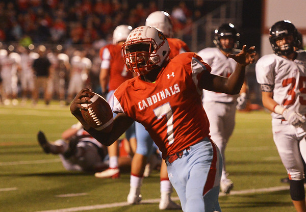 Globe/Roger Nomer<br /> Webb City's Durand Henderson celebrates his touchdown during Friday's game in Webb City.