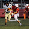 Globe/Roger Nomer<br /> Webb City's Jordon Rogers tackles Neosho's Payton Klier during Friday's game in Webb City.