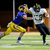 Globe|Israel Perez<br /> Cassville's River Phelps (23) breaks away from Brody Crawford (2) of Monett during their game on Friday night at Burl Fowler Stadium in Monett.