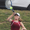 Globe/Roger Nomer<br /> Joplin's Ashley Butler returns a shot during a match on Tuesday at Joplin High School.