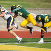 Globe/Roger Nomer<br /> Missouri Southern's Carter Rees (26) and Angelo Sumler (48) can't catch Central Oklahoma's Chandler Garrett before he scores in the first quarter of Saturday's game at Fred G. Hughes Stadium.