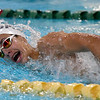Joplin's Ben Smith competes in the 200m freestyle on Thursday at Missouri Southern.<br /> Globe | Laurie Sisk