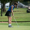 Carthage's Naomi Rehrer putts on Monday at Schifferdecker Golf Course.<br /> Globe | Roger Nomer