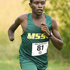 Missouri Southern's Gidieon Kimutai cruises to a first place finish during the MIAA Cross Country Championships on Saturday at MSSU. The MSSU men claimed the team title.<br /> Globe | Laurie Sisk